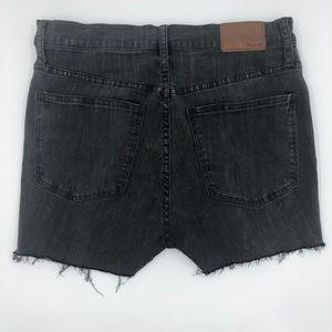 Madewell High Rise Cutoff Frayed Denim Shorts